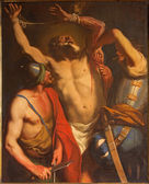 PADUA, ITALY - SEPTEMBER 10, 2014: The Martyrium of Saint Bartholomew the apostle by unknown painter of 18. cent. in the little chapel on Piazza del Santo. — Foto de Stock