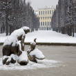 Vienna - Schonbrunn palace and fountain in winter — Stock Photo #60455795