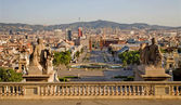 Barcelona - outlook from palace Real - morning — Stock Photo