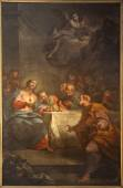 BERGAMO - JANUARY 26: Paint of Last supper of Christ in Duomo from 17. cent. on January 26, 2013 in Verona, Italy. — Stock Photo