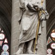 BRUSSELS - JUNE 22: Statue of Saint Paul the apostle from gothic cathedral of Saint Michael and Saint Gudula by sculptor Jeroom Duquesnoy de Jonge 1644 on June 22, 2012 in Brussels. — Stock Photo #60469579