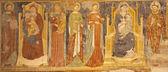 VERONA - JANUARY 27: Fresco from main nave of Basilica di San Zeno from 13. - 14. cent. by unknow autor in January 27, 2013 in Verona, Italy. — Stock Photo