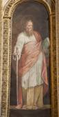 ROME - MARCH 21: Paint of Saint Paul the apostle from Santa Maria di Loreto church on March 21, 2012 in Rome. — Stock Photo