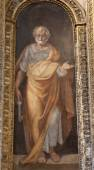 ROME - MARCH 21: Paint of Saint Peter the apostle from Santa Maria di Loreto church on March 21, 2012 in Rome. — Stock Photo