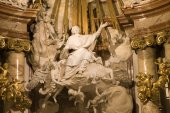 Vienna - detail from baroque altar of st. Charles Boromeo — Stock Photo