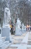 Madrid - The statues (19. cent.) depict Roman, Visigoth and Christian rulers from Plaza de Oriente — Stock Photo
