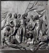 London - The Battle of Copenhagen relief from Nelson memorial by sculptor J. Ternout - Trafalgar square. — Foto Stock