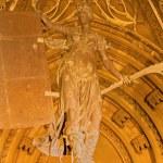 SEVILLE, SPAIN - OCTOBER 28, 2014: The Puerta del Principe on the Cathedral de Santa Maria de la Sede by authors J. de Hoces y J. G. de Hontanon for gothic part, and A. F.z Casanova for neo-gothic. — Stock Photo #60485245