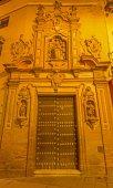 SEVILLE, SPAIN - OCTOBER 28, 2014: The main baroque portal of the church Capilla de San Jose (1716) by Lucas Valdes. — Foto de Stock