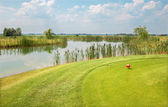Lake at the golf course in west Slovakia — Stock Photo
