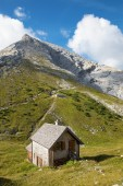 Alps - ascent on the Watzmann peak and little chale - Germany - Bavaria — Stock Photo