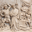 VIENNA, AUSTRIA - DECEMBER 17, 2014: The Jesus from Pilate relief as one part of Cross way cycle in Sacre Coeur church by R. Haas from end of 19. cent. — Stock Photo #63505773