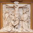 VIENNA, AUSTRIA - DECEMBER 17, 2014: The Crucifixion relief as one part of Cross way cycle in Sacre Coeur church by R. Haas from end of 19. cent. — Stock Photo #63544087