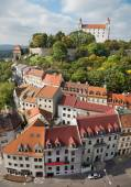 Bratislava - outlook form st. Martins cathedral to the castle — Stock Photo