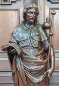 ANTWERP, BELGIUM - SEPTEMBER 5: Carved statue of st. Jude Thadeus the apostle in St. Pauls church (Paulskerk) on September 5, 2013 in Antwerp, Belgium. — Stock Photo
