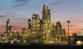 Oil revinery Schwechat in Austria — Stock Photo