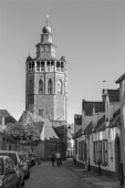 BRUGES, BELGIUM - JUNE 12, 2014: Church of Jerusalem from north. — Stock Photo