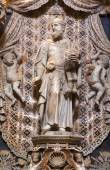 PALERMO - APRIL 9: Baroque statue of prophet Isaiah  from chapel on the north side of Monreale cathedral on April 9, 2013 in Palermo, Italy. — Stock Photo