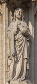 ANTWERP, BELGIUM - SEPTEMBER 4: Jesus Christ the Pantokrator statue on the main portal on the cathedral of Our Lady on September 4, 2013 in Antwerp, Belgium — Stock Photo