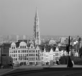 Brussels - Outlook from Monts des Arts in morning. — Stock Photo