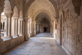 BETHLEHEM, ISRAEL - MARCH 6, 2015: The gothic corridor of atrium at St. Catharine church. — Стоковое фото