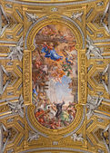 ROME, ITALY - MARCH 26, 2015: The baroque ceiling fresco  (Miracle of the Madonna della Vallicella) in church Chiesa Nuova (Santa Maria in Vallicella) by Pietro da Cortona (1664 - 1665). — Foto Stock