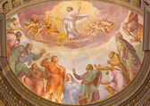 ROME, ITALY - MARCH 27, 2015: The Ascension of the Lord fresco in church Santa Maria dell Anima by Francesco Salviati from 16. cent. — Stock Photo