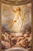 ROME, ITALY - MARCH 27, 2015: The Resurrection fresco in church Santa Maria dell Anima by Francesco Salviati from 16. cent. — Stock Photo
