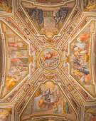 ROME, ITALY - MARCH 27, 2015: The ceiling fresco by G. B. Ricci (1585) in church Chiesa di San Agostino (Augustine) and chapel of st. Monica. — Stock Photo