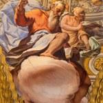GRANADA, SPAIN - MAY 31, 2015: The fresco of St. Matthew the evangelist in baroque sanctuary (Sancta Sanctorum) in church Monasterio de la Cartuja by Antonio Palomino (early of 18. cent.) — Stock Photo #77489920