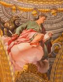 GRANADA, SPAIN - MAY 31, 2015: The fresco of St. John the Evangelist in baroque sanctuary (Sancta Sanctorum) in church Monasterio de la Cartuja by Antonio Palomino (early of 18. cent.) — Stockfoto