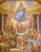 ROME, ITALY - MARCH 25, 2015: The Assumption fresco by Daniele da Volterra (1584 - 1550) in church Chiesa della Trinita dei Monti. — Stock Photo