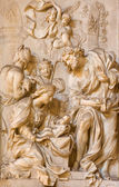 ROME, ITALY - MARCH 24, 2015: The marble relief of Adoration by the Shepherds in church Chiesa di Santa Maria della Vittoria by Etienne Monnot (1657 - 1733). — Stock Photo
