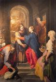 ROME, ITALY - MARCH 26, 2015: The paint of Visitation by Federico Barocci (1528 - 1612) in baroque church Chiesa Nuova (Santa Maria in Vallicella). — Stock Photo