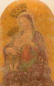 """ROME, ITALY - MARCH 26, 2015: The Fresco """"Madonna del latte col bambino Jesu"""" by Antoniazzo Romano from 13. cent. in church Chiesa di Santa Maria Annunziata. — Stock Photo"""