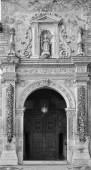 GRANADA, SPAIN - MAY 30, 2015: The renaissance portal of st. Cecilio church by Juan de Marquina (1533). — Stock Photo