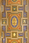 ROME, ITALY - MARCH 25, 2015: The Immaculate Conception as the central motive on flat coffered wooden ceiling (1592 - 1594) in church Chiesa San Marcello al Corso designed by Carlo Francesco Lambardi. — Stock Photo