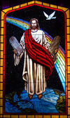 Jesus Stain Glass Window — Stock Photo