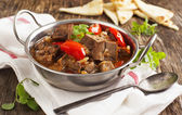 Lamb stew with vegetables — Stock Photo