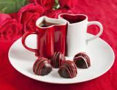 Tartufo di cioccolato fatte a mano per San Valentino — Foto Stock