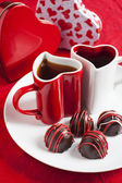 Hand made Chocolate truffle for Valentine Day — Stock fotografie