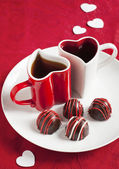 Hand made Chocolate truffle for Valentine Day — Foto de Stock