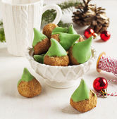 Almond cookies for Christmas — Stok fotoğraf
