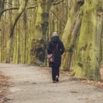 Woman enjoying a winter walk — Stock Photo #67582239