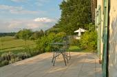 Paved outdoor patio — Stock Photo