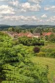 Quaint rural stone village — Stock Photo