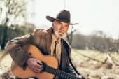 Country and Western guitarist — Stock Photo