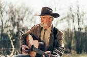 Lonely country and Western musician — Stock Photo