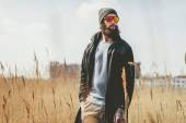 Bearded man in sunglasses — Stock Photo