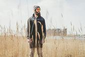 Casual bearded man — Stock Photo